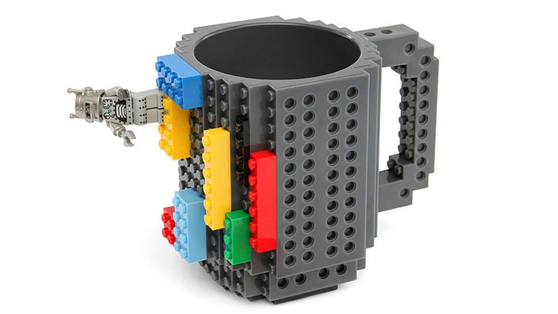 Illustration for article titled A Few Lego Pieces Transform This Studded Mug Into Whatever You Can Imagine