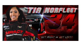 Illustration for article titled Tia Norfleet Is the First African-American Female NASCAR Driver