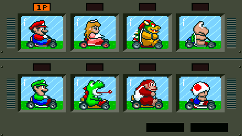 Screenshot: Super Mario Kart