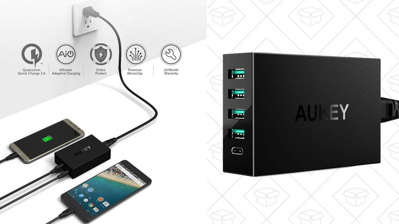 AUKEY USB Charger with USB C Port, $20 with code AUKUSBC5