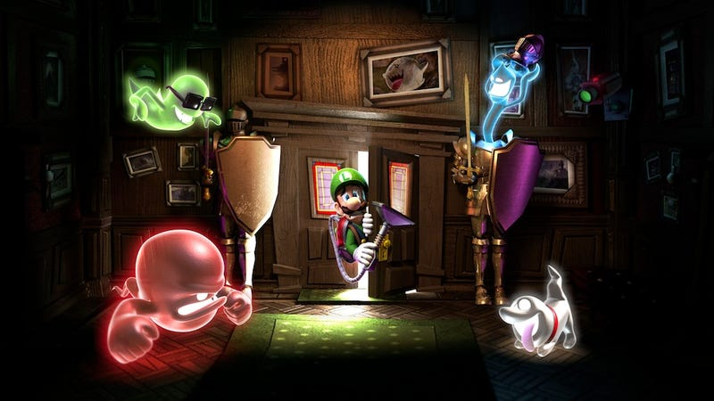 Illustration for article titled Great, Official Luigi's Mansion: Dark Moon Artwork Justifies New Luigi's Mansion: Dark Moon Preview
