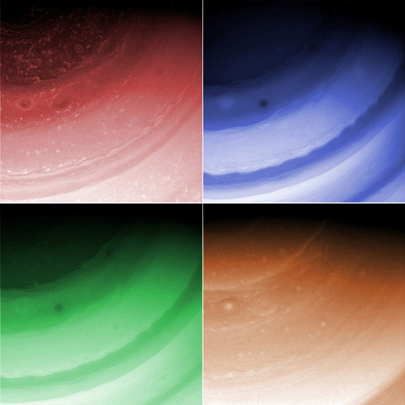Illustration for article titled Saturn's Atmosphere Is A Modern Art Sensation