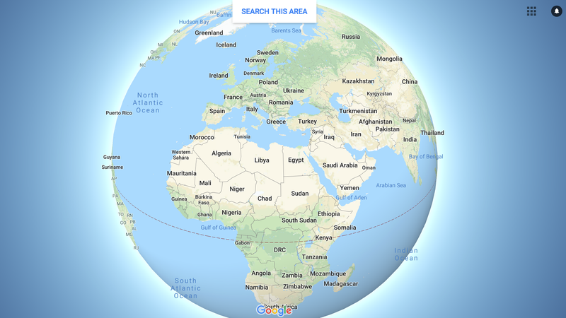 Illustration for article titled In huge blow to flat earthers, Google Maps now renders the planet as a globe