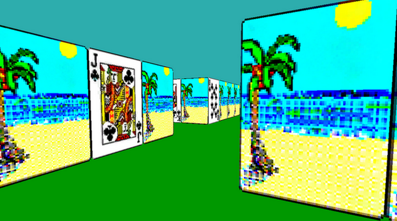 Illustration for article titled Windows Solitaire As A First Person Game