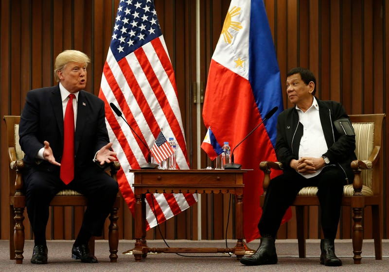 Donald Trump and Rodrigo Duterte (Rolex dela Pena/Pool Photo via AP)