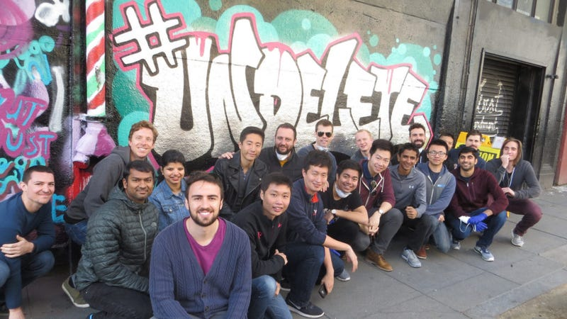 photo image Rad as Hell Uber Employees Tag Wall With Badass #Undelete Message