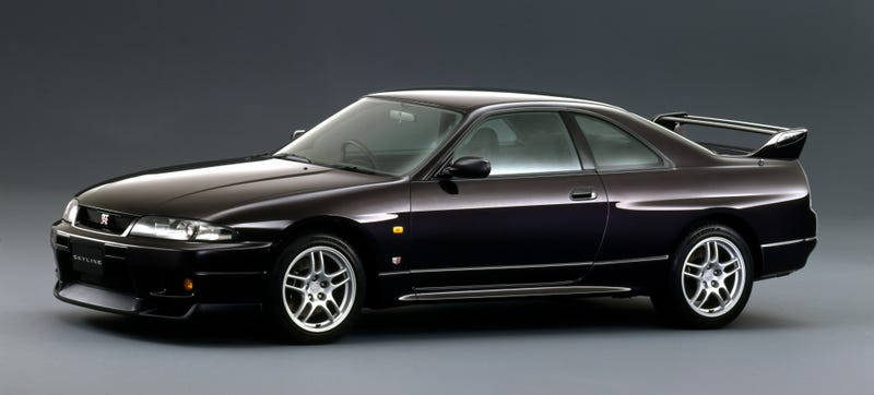 The Nissan Skyline GT-R as it was in 1995. Oh, how I hated this lumpy car when I was younger. Photo Credit: Nissan