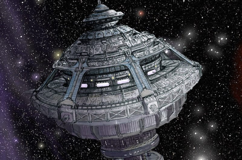 Illustration for article titled Exclusive Dark Matter Concept Art Is Loaded With Glorious Spaceships!