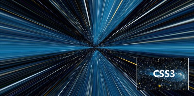 Illustration for article titled Un viaje infinito por el hiperespacio con CSS3
