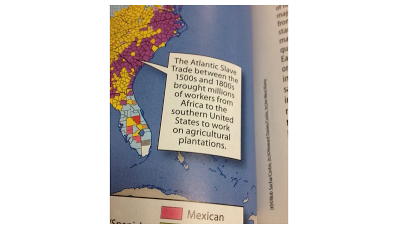 Illustration for article titled Texas Mom Forces Textbook Publisher to Correct Caption Implying Slaves Were Immigrant Workers