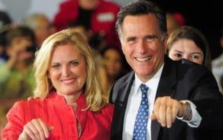 The Romneys (Emmanuel Dunand/AFP)