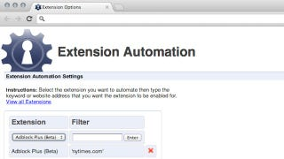 Illustration for article titled Extension Automation Enables Extensions Based on Specific Web Sites