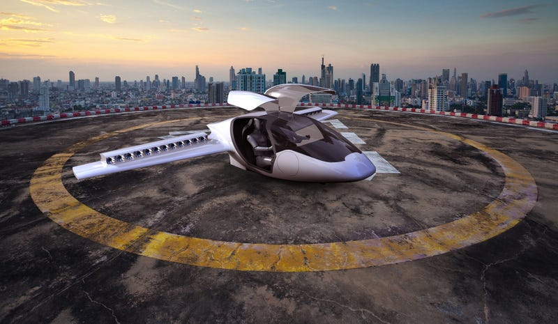 An electric aircraft under development by the German startup Lilium. Image: Lilium