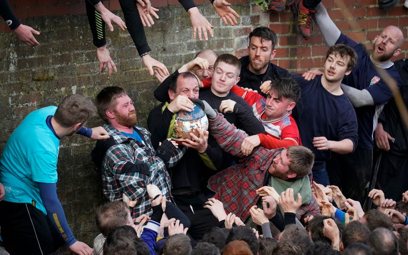 Illustration for article titled The Royal Shrovetide Football Game Is A Very Dumb, Very English, And Very Good Sport