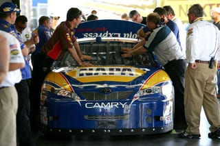 Illustration for article titled Michael Waltrip Handed Biggest NASCAR Sanction Ever, We Don Rocket Scientist Hats