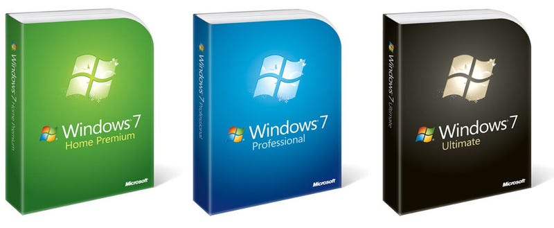 Illustration for article titled Windows 7 Packaging Is Plain, But With Subtle Flair (and Flare)