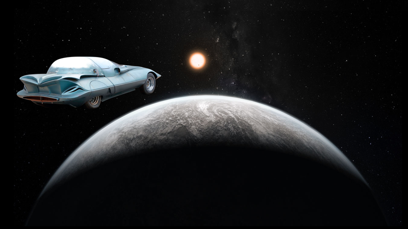 Illustration for article titled This Custom 1964 Corvette Going to Auction Would Look Much Better Going to Space