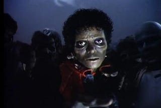 "Michael Jackson stars in ""Thriller""MJJ Productions Inc."
