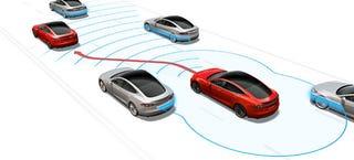 Illustration for article titled El piloto automático de los Tesla no cambiará de carril por ti