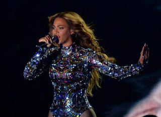Beyoncé performs at the MTV Video Music Awards on Aug. 24, 2014, at the Forum in Inglewood, Calif.Robyn Beck/AFP/Getty Images
