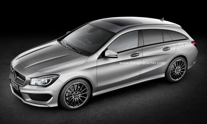 Illustration for article titled Mercedes CLA Shooting Brake Confirmed