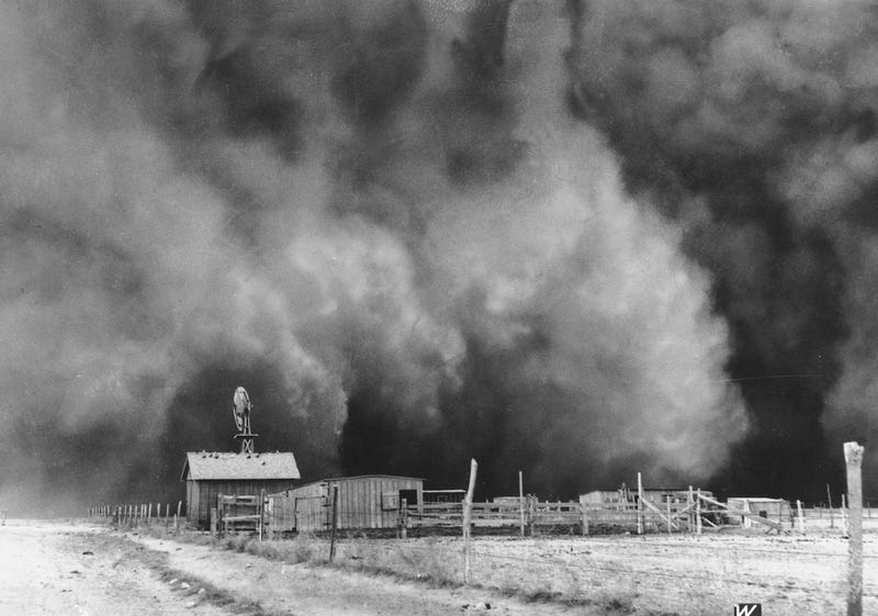How did the drought or the dust bowls have an effect on the great depression?