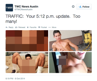 Illustration for article titled Texas News Station Accidentally Tweets Image of Gay Porn