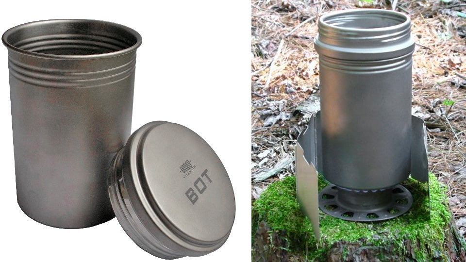 Camping cup for boiling water