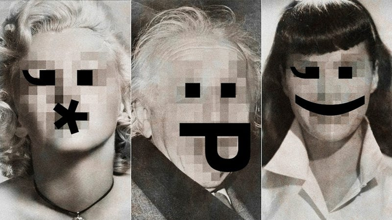 Illustration for article titled Replacing the Faces of Iconic Celebrities with Emoticons Is Stupid Fun