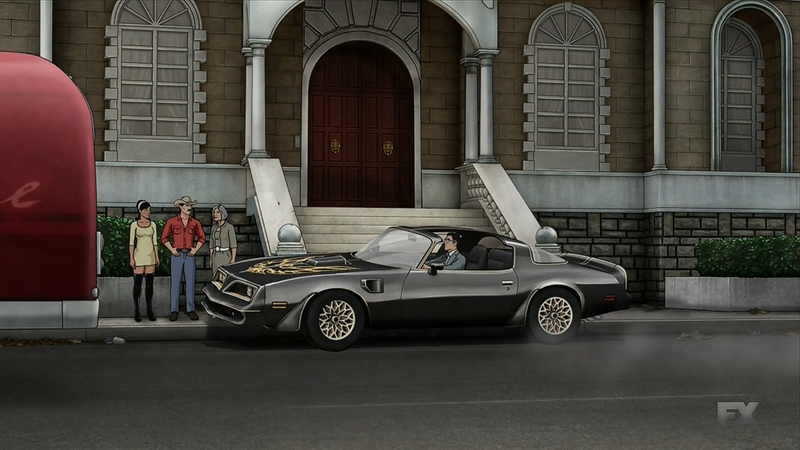 Illustration for article titled Archer has a Trans Am.