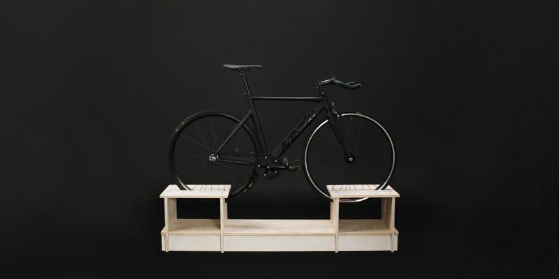 Illustration for article titled Sleek Furniture Line Puts Your Bike Where It Belongs: On a Pedestal