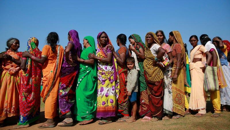 Indian women in the Dalit caste. Image via AP.