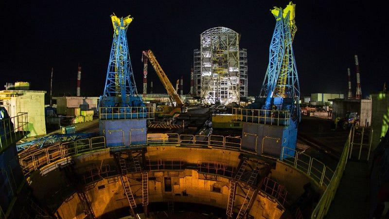 Foto: Vostochny en construcción (vía Amur y Kremlin).