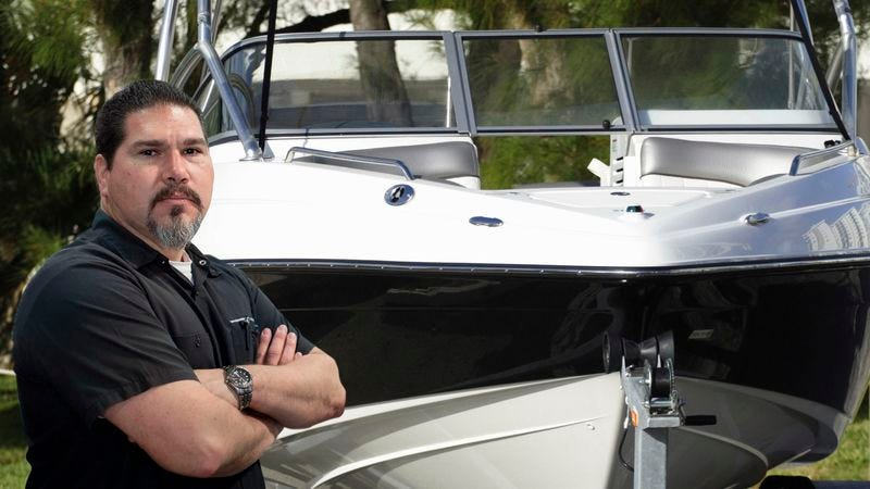 Illustration for article titled Area Man Now Checks Inside Boat In Driveway Every Morning