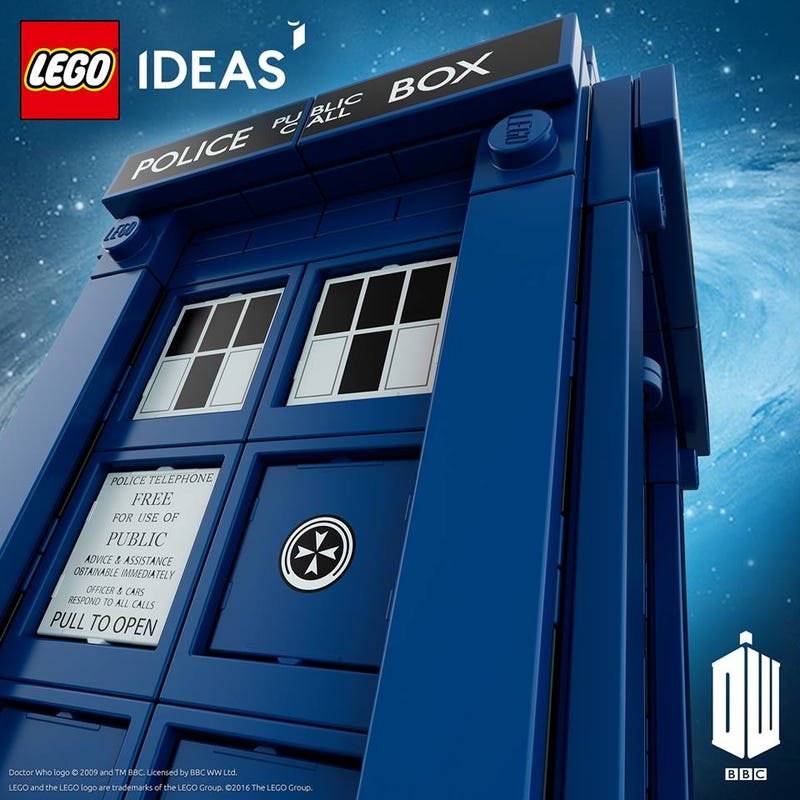Illustration for article titled Lego's Doctor Who Tardis Set Will Be Landing Soon