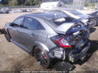 that wrecked 164 mile honda civic type r could be your next salvage race car. Black Bedroom Furniture Sets. Home Design Ideas