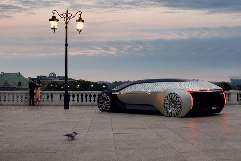 Illustration for article titled Renault's New Luxury Robo-Vehicle Concept Is Gorgeous Vaporware