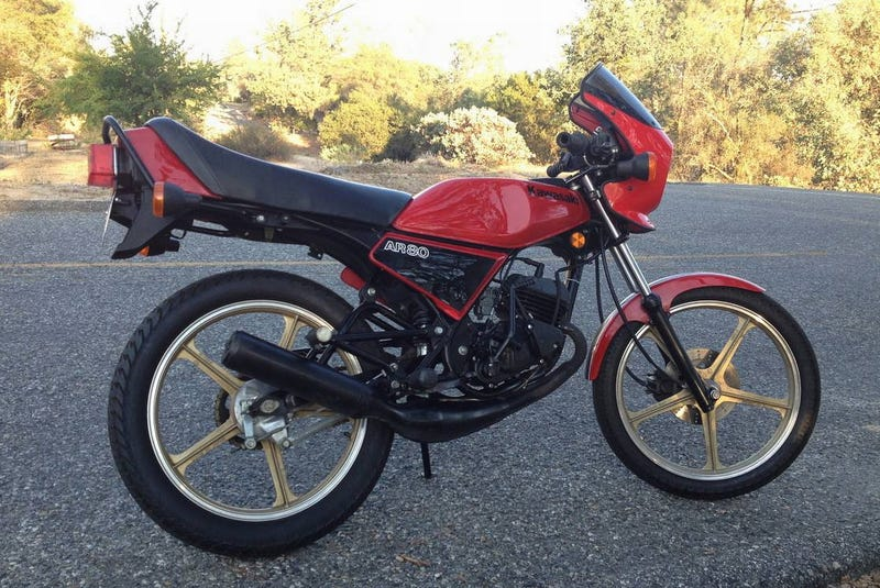 Illustration for article titled For $2,500, Could This 1982 Kawasaki AR80 Put Your Game Two Strokes Up?