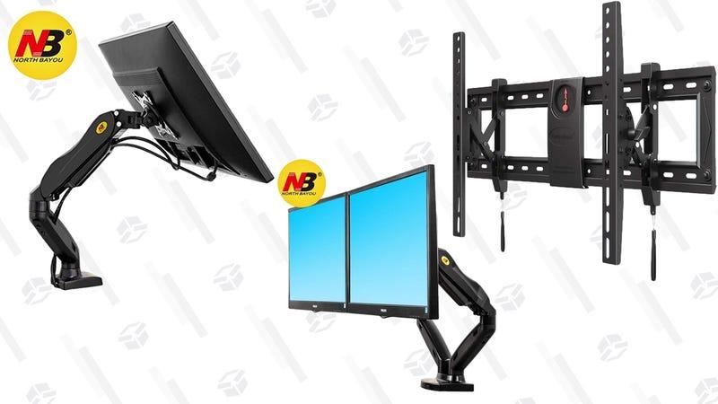 North Bayou Monitor and TV Mount Sale | $19-$37 | Amazon