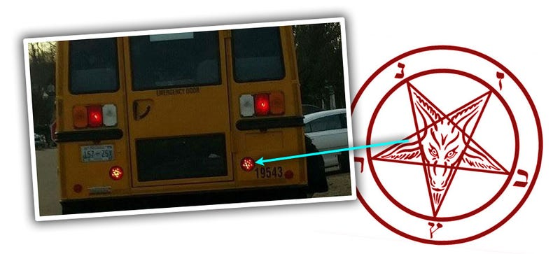 Illustration for article titled Adult Human Actually Thinks School Bus Brake Lights Are Satanic