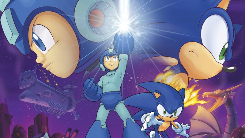 Illustration for article titled Too Bad This Mega Man & Sonic Comic-Book Crossover Isn't an Actual Game