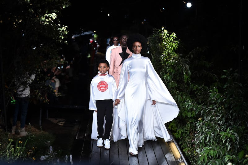 Models on the runway during Pyer Moss - Runway - September 2018 - New York Fashion Week on September 8, 2018 in New York City.