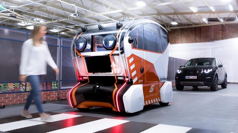 Illustration for article titled Jaguar's New Autonomous Car Has a Face and It's Horrifying
