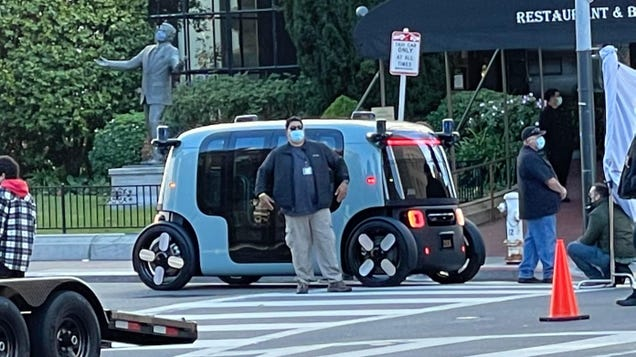 Amazon s Zoox Driverless Car, or Possibly an iMac G3 on Wheels, Spotted in San Francisco