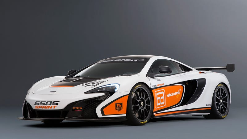 Illustration for article titled ​The McLaren 650S Sprint Is The GT3's Slightly Less Sinister Sibling