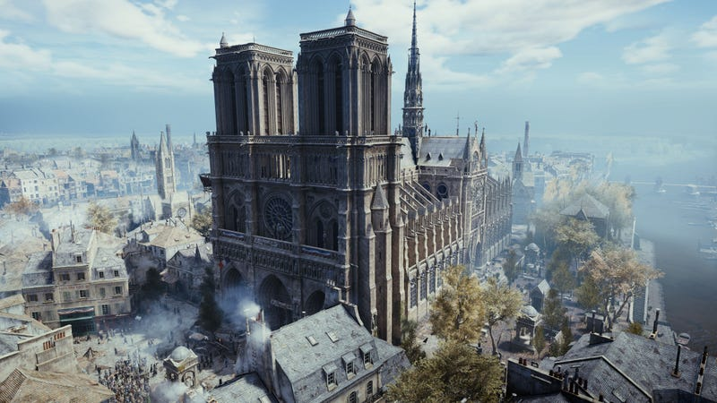 Illustration for article titled La reconstrucción de la catedral de Notre Dame podría tener una ayuda inesperada: un videojuego