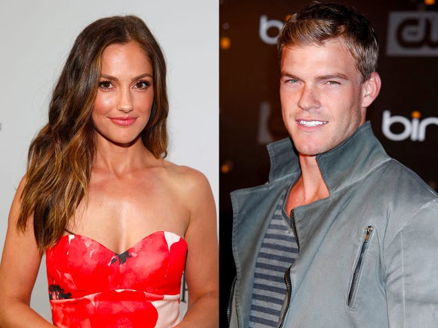 Minka Kelly and Alan Ritchson (Photos: Jonathan Leibson/Getty Images;  Imeh Akpanudosen/Getty Images)