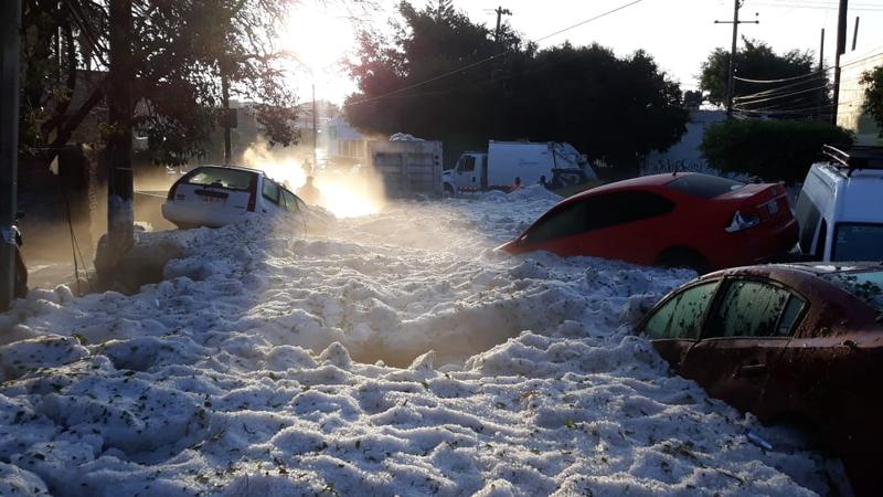 Illustration for article titled Esta ciudad de México pasó de tener 31 grados a amanecer sepultada en hielo tras una gran tormenta