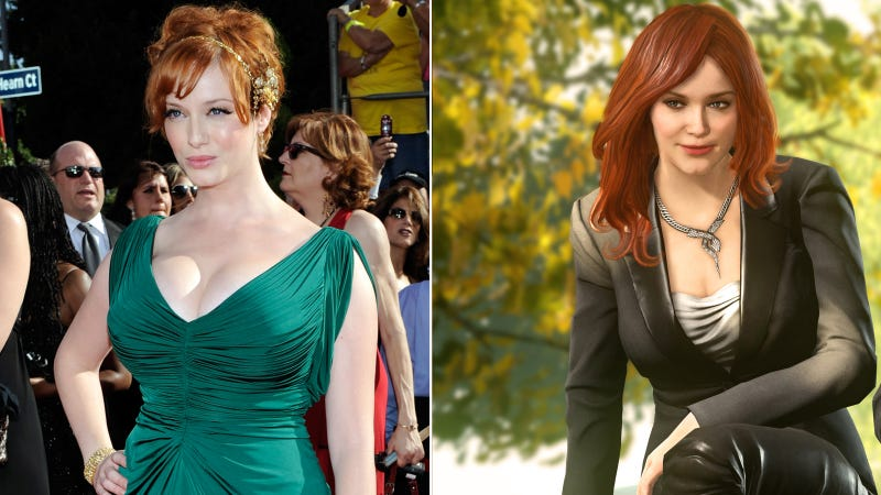 Illustration for article titled Were Christina Hendricks' breasts made smaller in this video game?