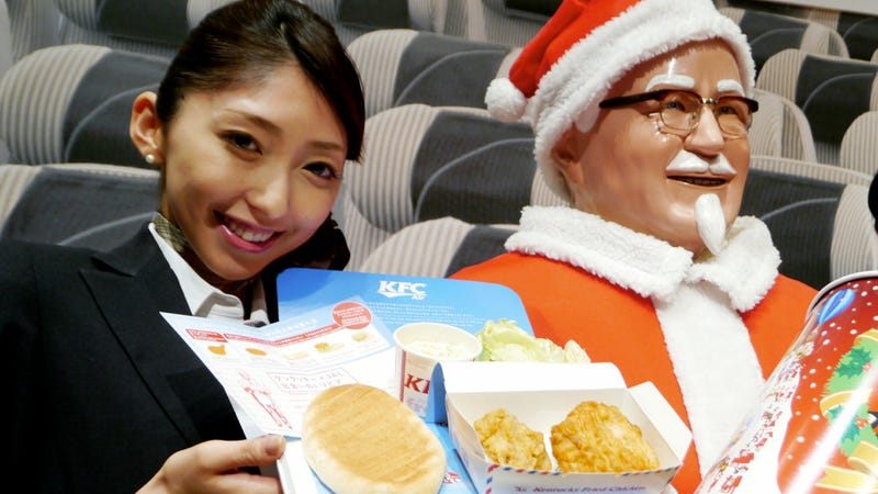 Illustration for article titled Soon, You Can Eat Kentucky Fried Chicken on Japan Airlines